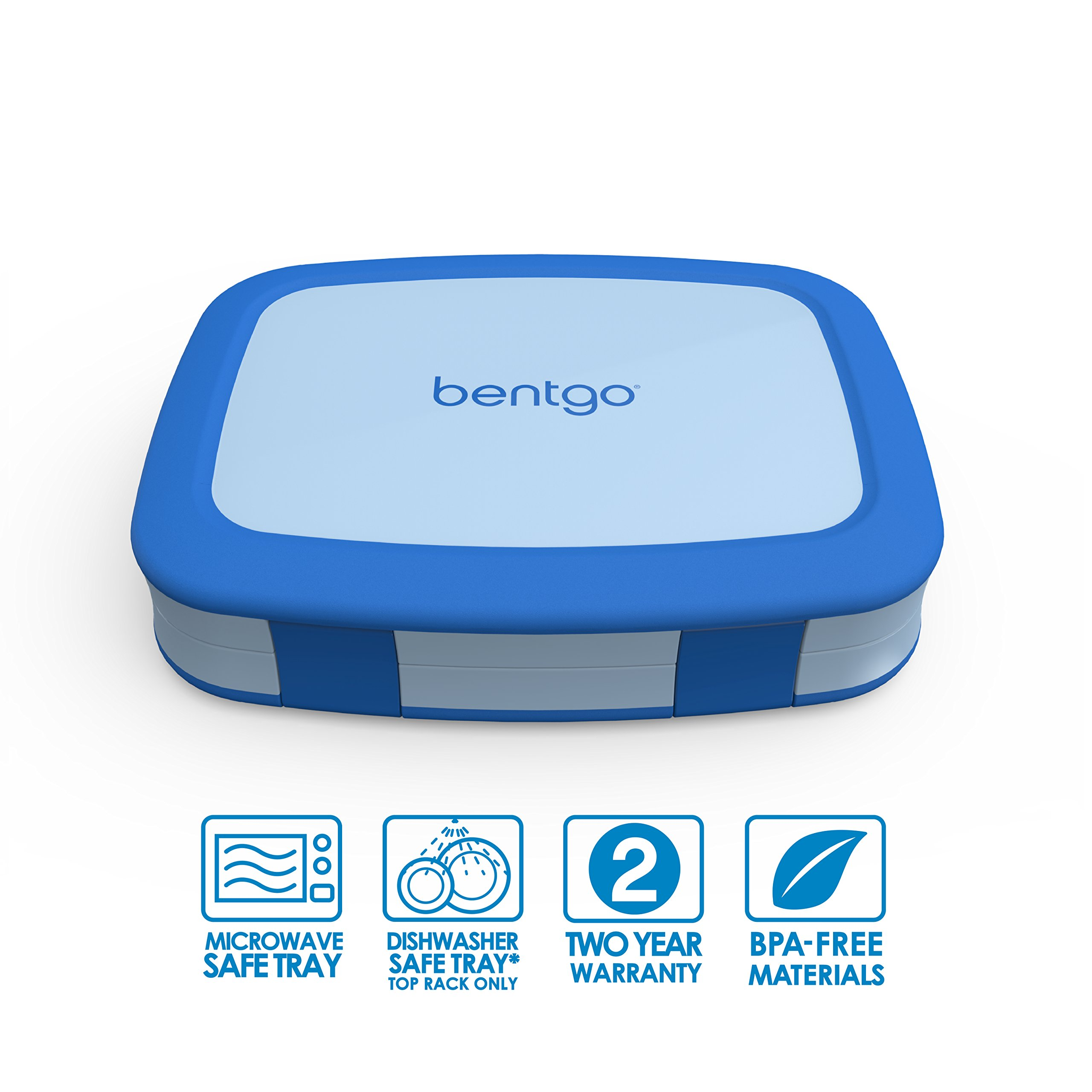 Bentgo Kids Childrens Lunch Box - Bento-Styled Lunch Solution Offers Durable, Leak-Proof, On-the-Go Meal and Snack Packing by Bentgo (Image #2)