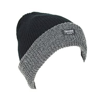 Image Unavailable. Image not available for. Colour  Mens Thinsulate Knit  Winter Knitted Beanie Hat ... cd22f99ffcc1