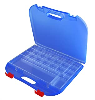 product image for Dexas Loom Storage Lap Case, Blue/Red