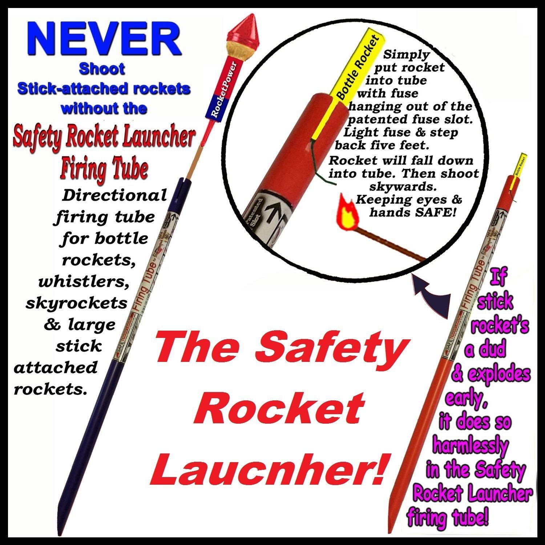 Seguridad Rocket Launcher direccional Tubo de disparo para botella de stick-attached cohetes: Amazon.es: Juguetes y juegos