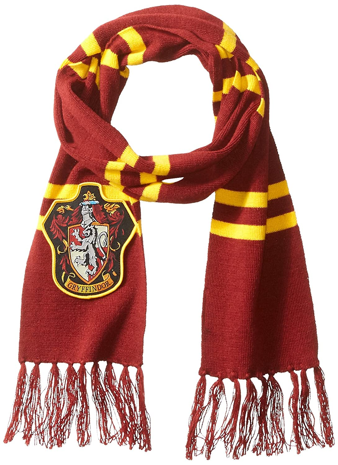 Amazon.com: Harry Potter Gryffindor Patch Knit Scarf: Clothing