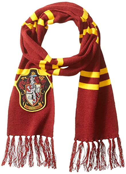 Amazon Harry Potter Gryffindor Patch Knit Scarf Clothing