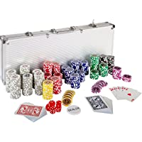 Maxstore Ultimate Pokerset con 500 Chips láser 12