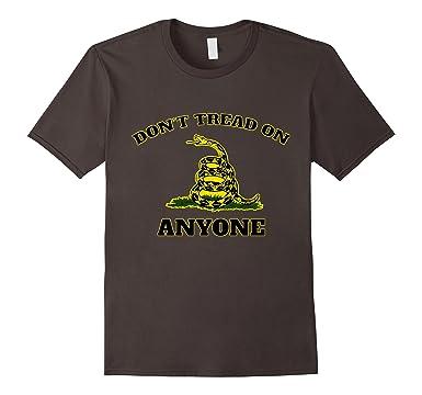amazon com don t tread on anyone gadsden flag shirt clothing