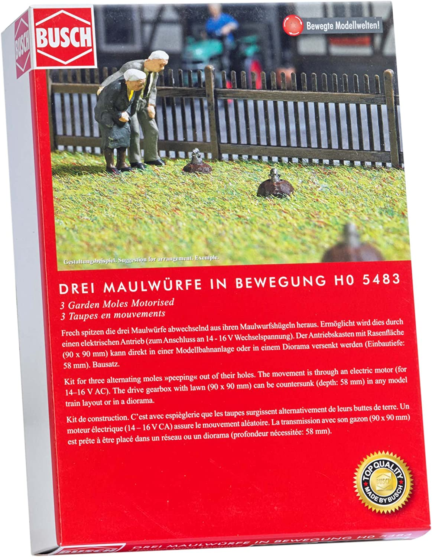 Busch 5483 Three Peeping Moles HO Scenery Scale Model Scenery