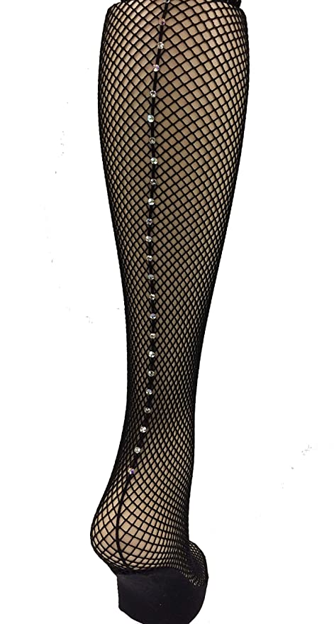 7e2922614819b Capezio Professional Seamed Rhinestone Fishnet Tights (SM, BlackABCR):  Amazon.ca: Luggage & Bags