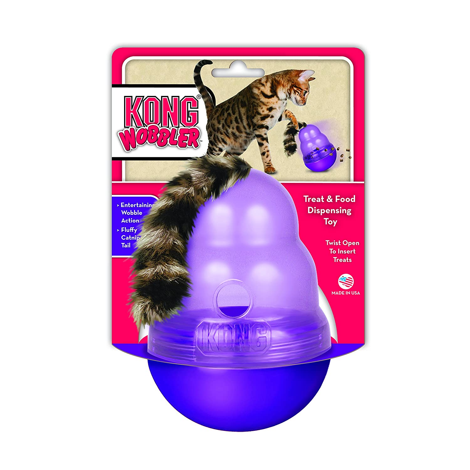 Dishes, Feeders & Fountains The Company Of Animals Northmate Interactive Cat Feeder Purple Slow Feed Bowl 1 Fine Quality Cat Supplies