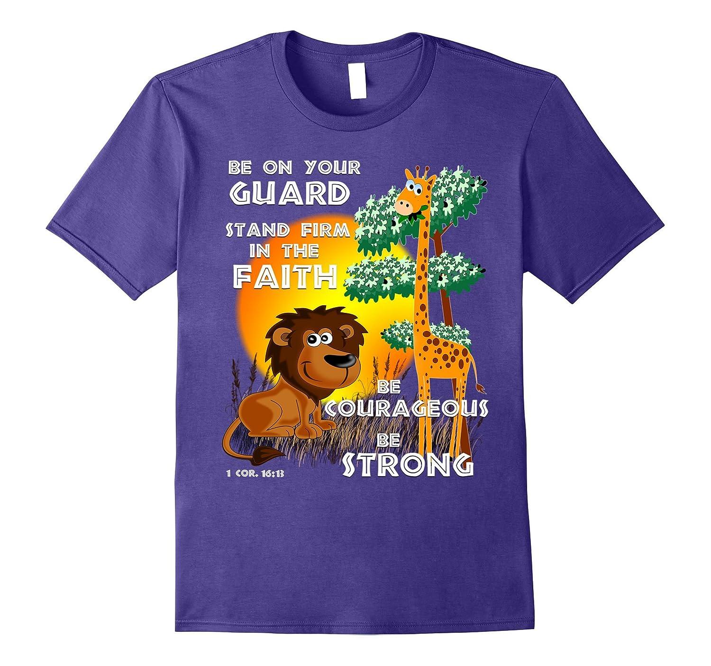 Bible Verse Be Courageous Tee Shirt-Vaci