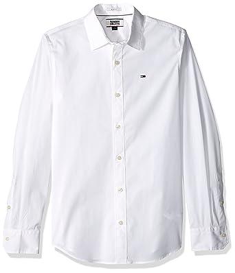 f495ab5f6d8 Tommy Hilfiger Men s Button Down Shirt Original Stretch at Amazon Men s  Clothing store