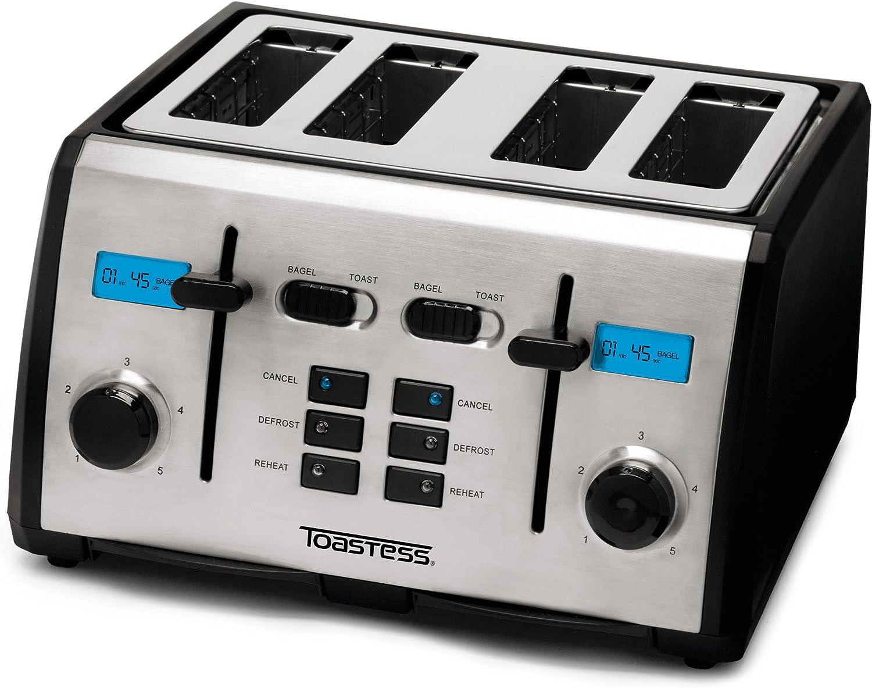 Toastess TT-522 4-Slice Toaster with Digital Countdown Timer