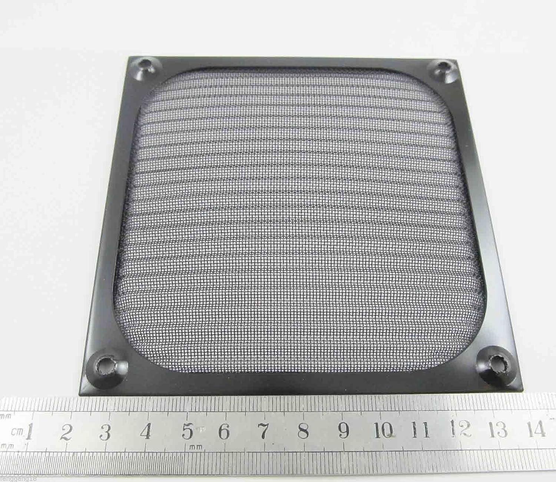 12cm 120mm High Quality Aluminum PC Computer Cooling Fan Filter Silver Dustproof