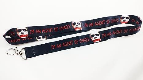 Amazon.com: IM un agente de caos Cordón/llavero con Clip ...