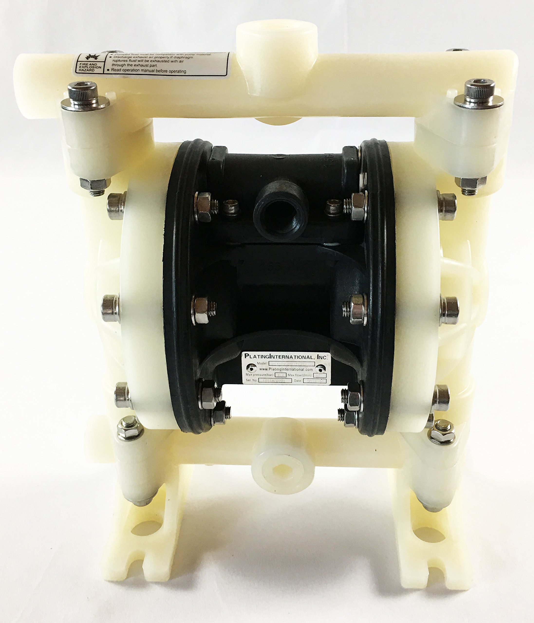 Double Diaphragm Air Pump PII.50 Chemical Industrial Polypropylene 1/2'' or 3/4'' NPT Inlet / Outlet by Plating International (Image #4)