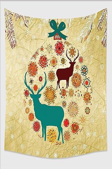 Amazon.com: Nalahome-Christmas Decorations Reindeer and Snowflakes ...