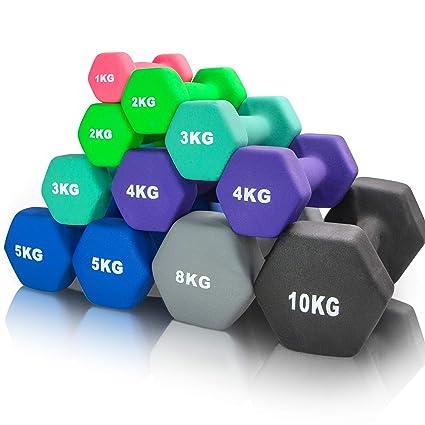 arteesol Mancuernas 1kg/2kg/3kg/4kg/5kg/8kg Pares con Mancuernas ...