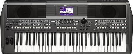 Yamaha PSR-S670 Teclado de estación de trabajo de 61 teclas con altavoces estéreo integrados y tecnología de articulación MegaVoice con soporte para ...