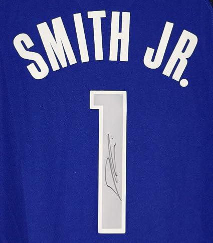 size 40 4fd49 c9451 Dennis Smith Jr. Dallas Mavericks Signed Autographed Blue #1 ...