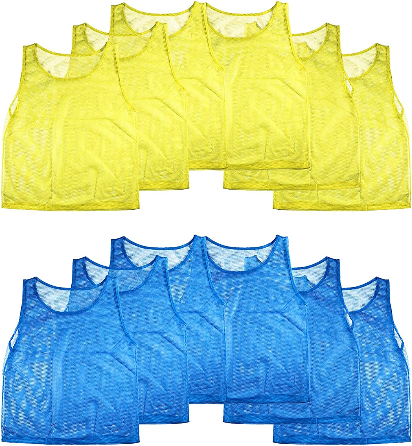 Red, 10 Pack Child American Challenge Soccer Sports Scrimmage Vest Jersey