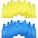 Nylon Mesh Scrimmage Team Practice Vests Pinnies Jerseys for Children Youth Sports Basketball, Soccer, Football…