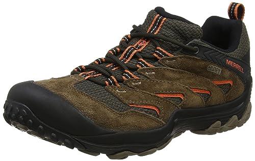 e8193b29652 Merrell Men's Cham 7 Limit Waterproof Low Rise Hiking Boots