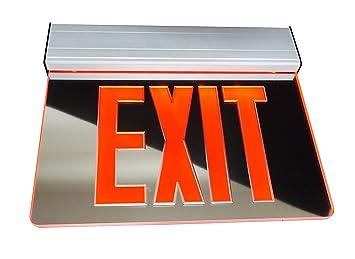 nicor lighting exl2 10unv al mr r 2 edge lit led emergency exit sign rh amazon com UL 924 Wiring-Diagram Crispaire Wall Mount Unit Wiring Diagram