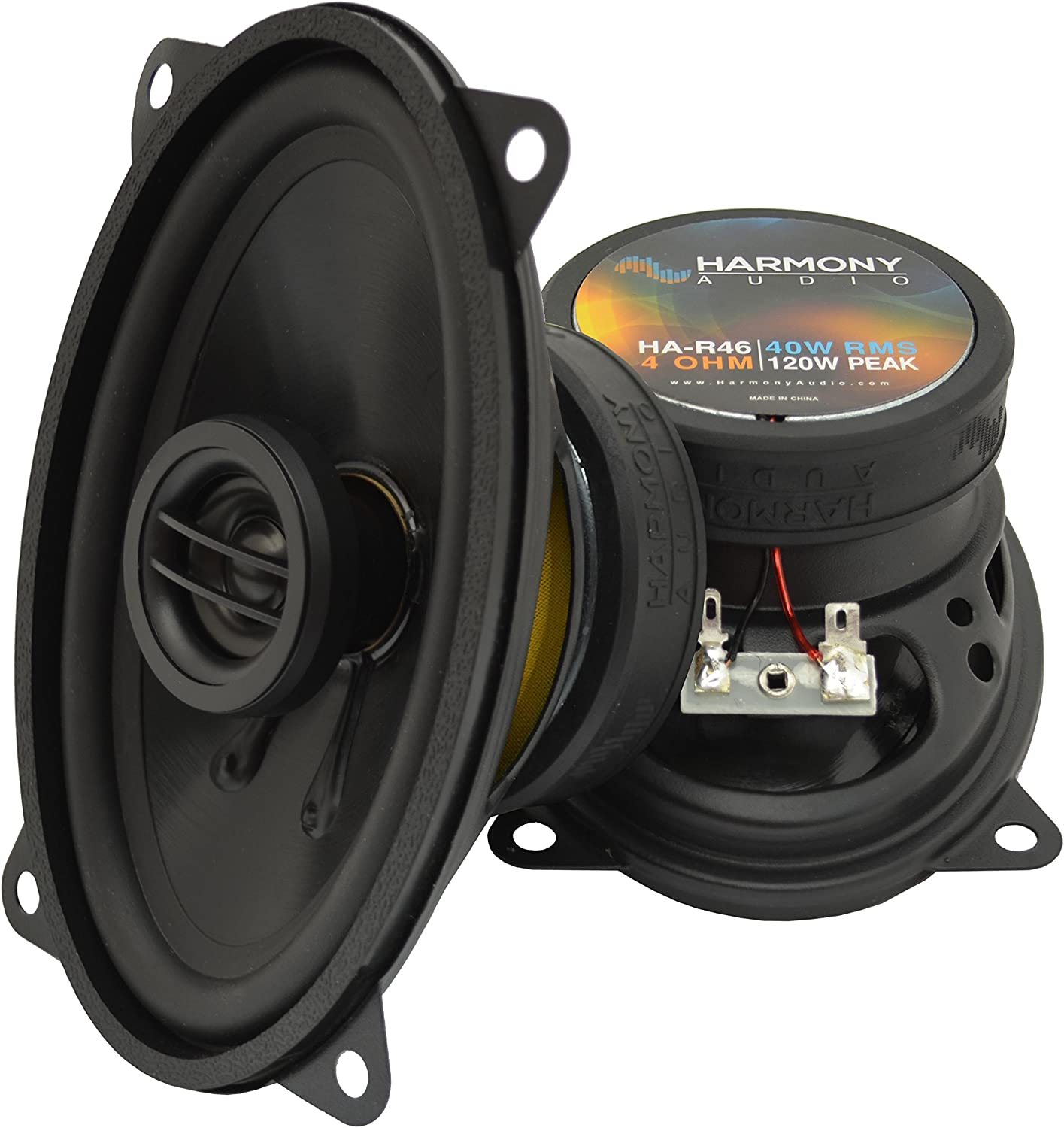 Compatible with Pontiac Grand Am 1996-2005 Front Door Factory Replacement Harmony HA-R46 Speakers
