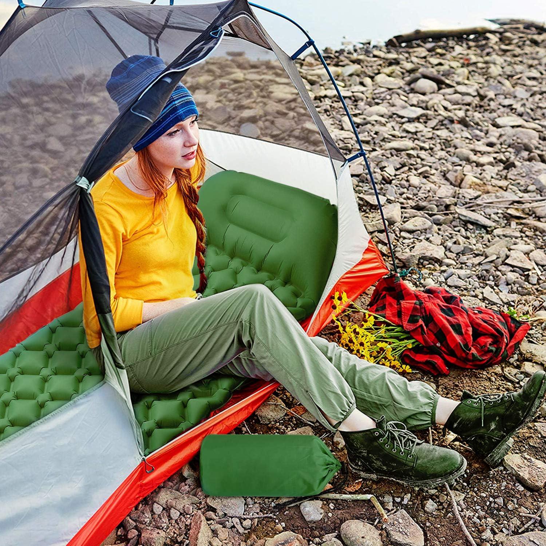 Schlafmatte f/ür Outdoor AGM Camping Isomatte Camping,Strand,Reisen Ultraleichte Isomatte Feuchtigkeitsfest Camping Aufblasbare Luftmatratze
