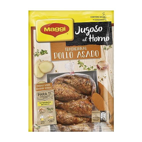 Maggi Jugoso al Horno Tradicional Pollo Asado - 1 Bolsa para Horno con Condimentos 31 gr - [Pack de 8]: Amazon.es: Alimentación y bebidas
