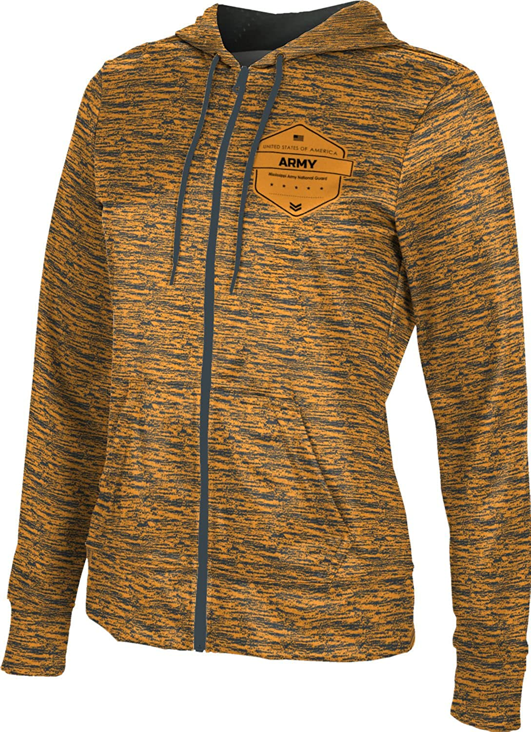 Women's Mississippi Army National Guard Military Brushed Fullzip Hoodie