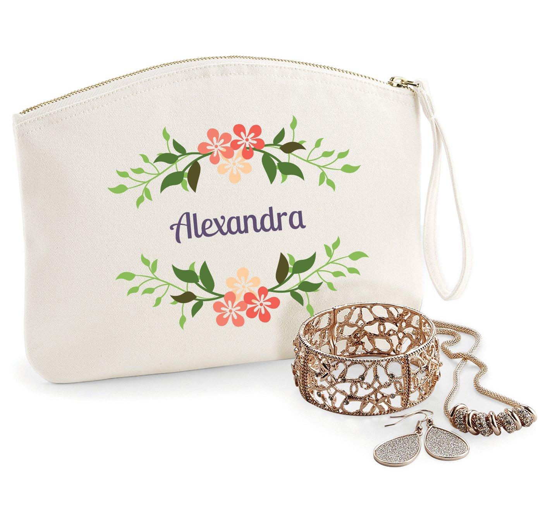 Trousse à personnaliser modèle Alexandra, coton BIO, existe en 2 tailles, trousse de toilette, prénom, cadeau anniversaire, fête des mères, trousse bijoux, sacoche prénom fête des mères