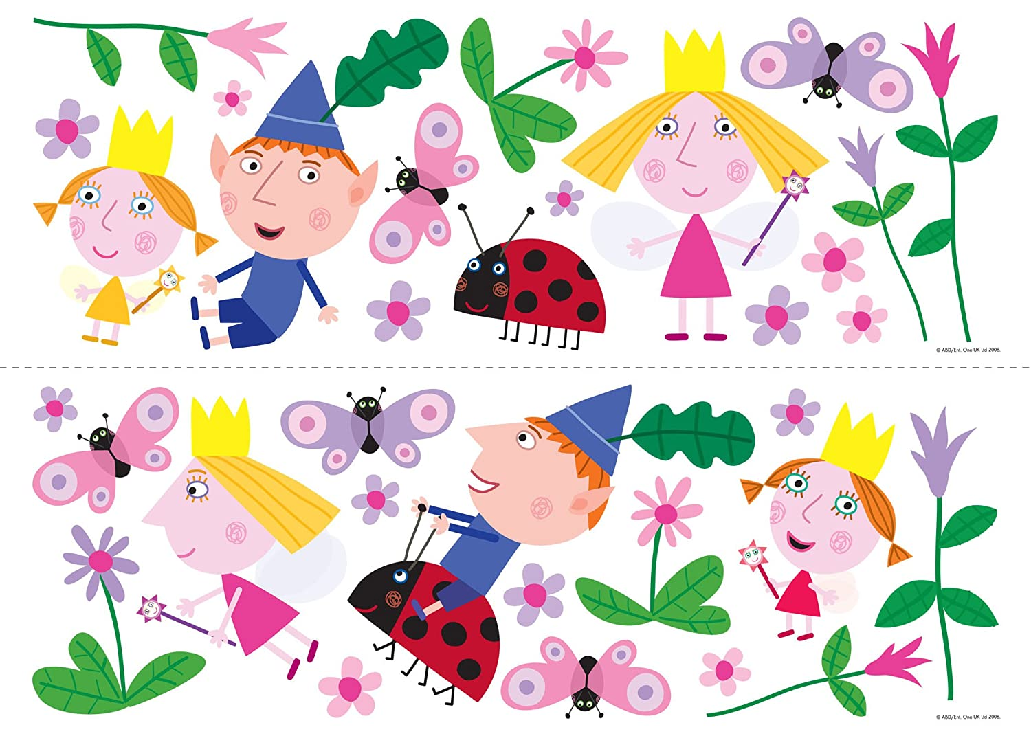 Fun4Walls Repositionable Wall Stickers, Ben And Holly Stickarounds:  Amazon.ca: Home U0026 Kitchen Part 5