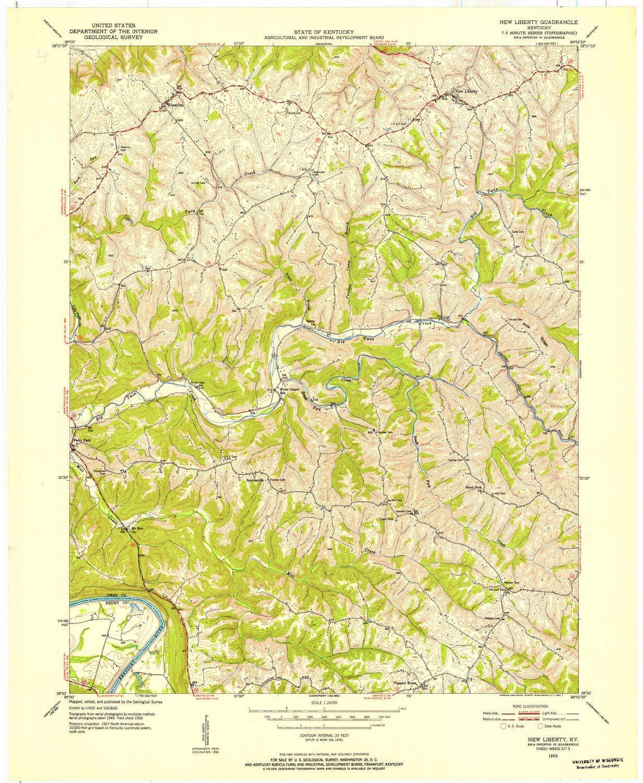 Amazon.com : YellowMaps New Liberty KY topo map, 1:24000 Scale, 7.5 on kentucky flash, kentucky travel map, murray sea map, kentucky interstate map, ohio county map, kentucky county map, ohio kentucky tennessee map, kentucky vegetation map, kentucky outline map, kentucky drainage map, bourbon old map, kentucky trail map, 4th grade tennessee map, interactive kentucky map, kentucky lake map, kentucky street map, kentucky railway map, kentucky park map, united states map, kentucky transport map,