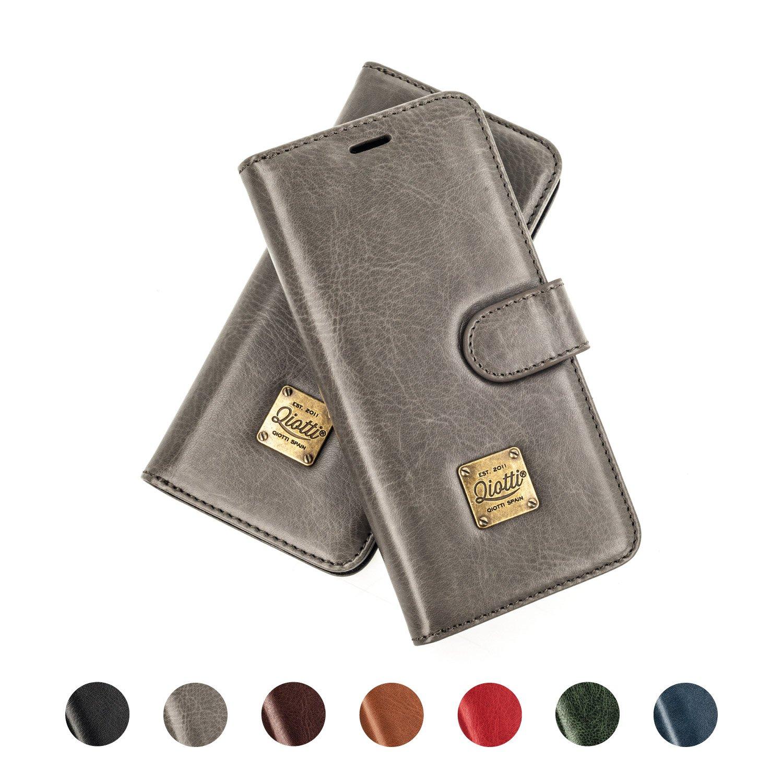 QIOTTI NOKIA 6 Funda, España Cartera con [ RFID NFC Protección Block ] [ Standfunction Películas ] [ 3 Ranuras para Tarjetas ] [ Cierre Magnético ] ...