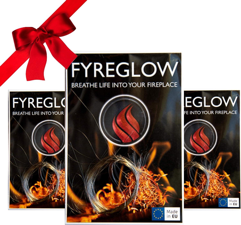 Nutzbar bis 300 Stunden Ideal als Dekotation f/ür Biokamin oder Gaskamin Multipack x3 1g FYREGLOW Glow Flame Kamin Zubeh/ör f/ür Bioethanol Wandkamine und Standkamine