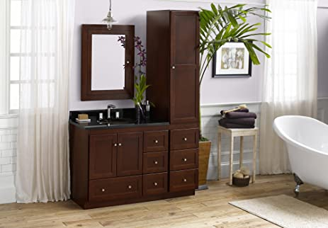 Charmant RONBOW Shaker 52 Inch Bathroom Vanity Set In Dark Cherry, Bathroom Vanity  With Top And