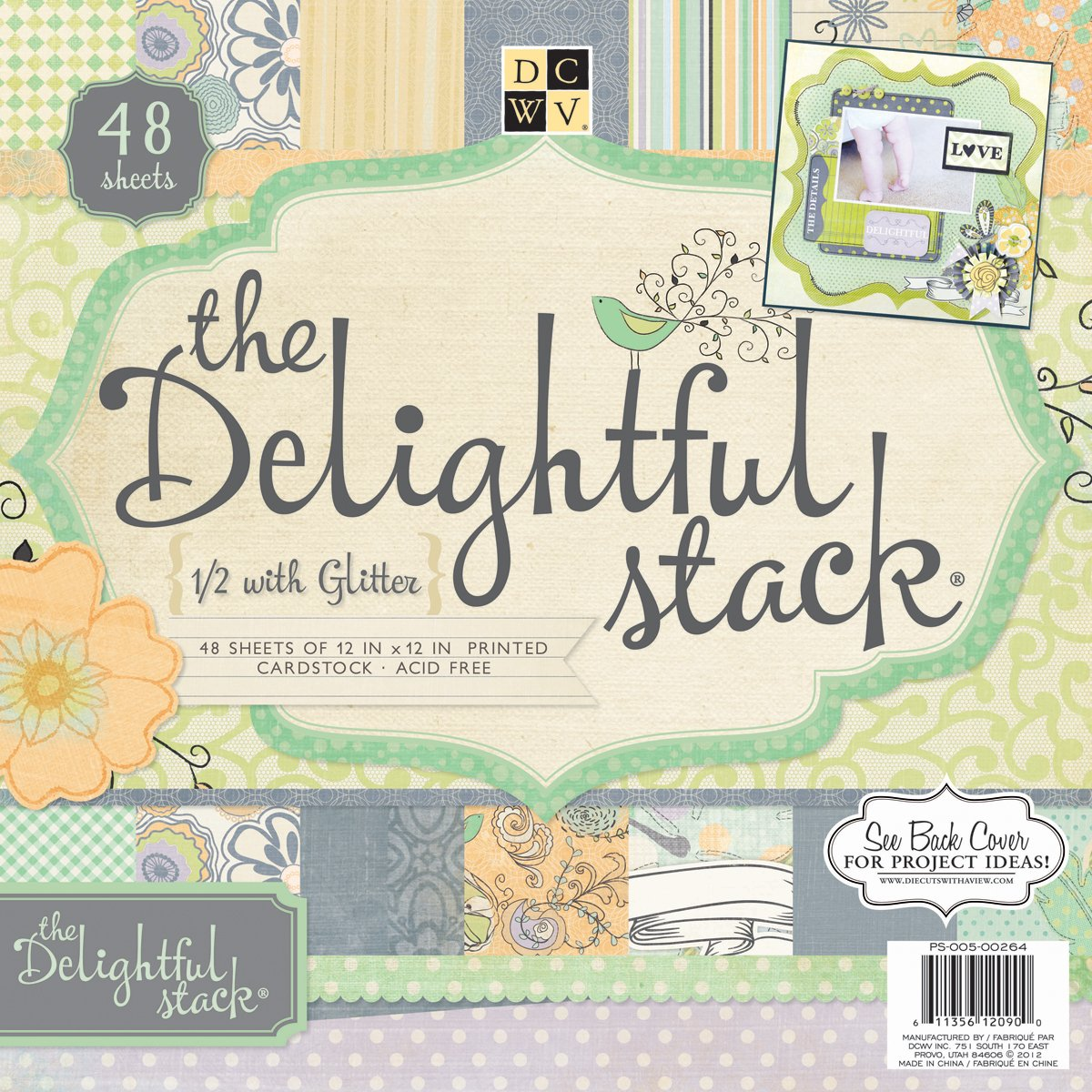 Set carta da costruzione Delizioso Paper Stack Stack 30.5 cm x 30.5 cm, 48 pagine