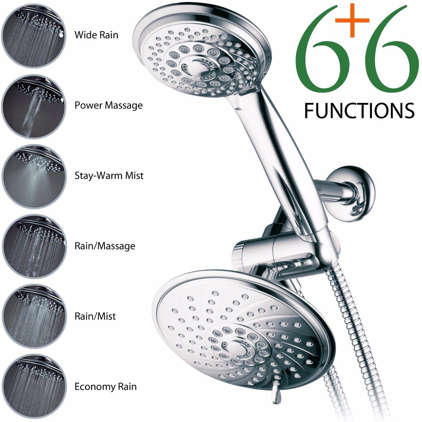 Ultra-Luxury 30-Setting 3-Way Rainfall Shower Head Combo