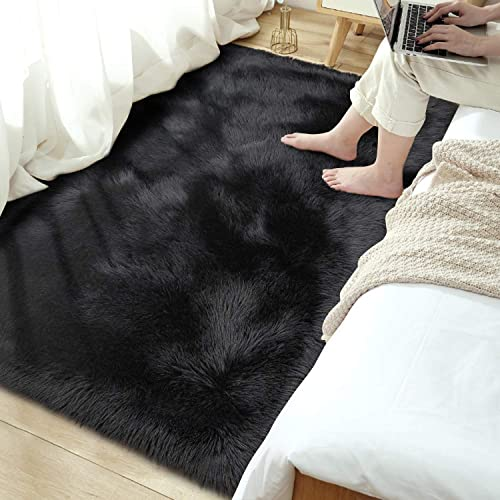 Terrug Soft Shag Faux Fur Sheepskin Area Rug