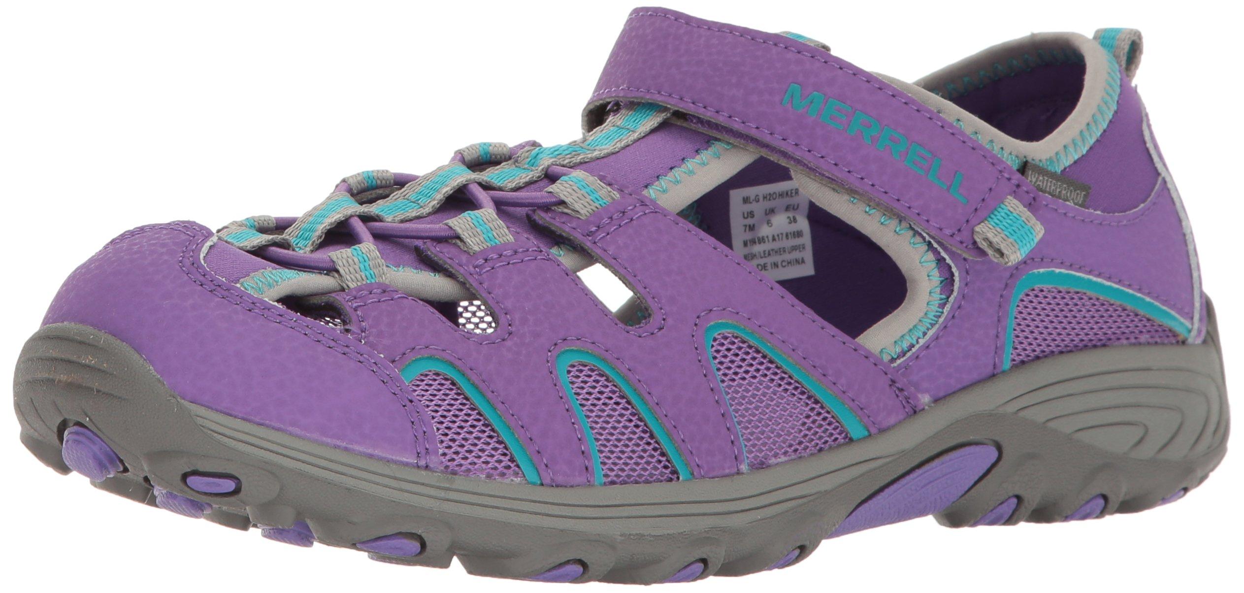 Merrell Girls' Hydro H2O Hiker Sandal Sport, Purple, 1 Medium US Little Kid