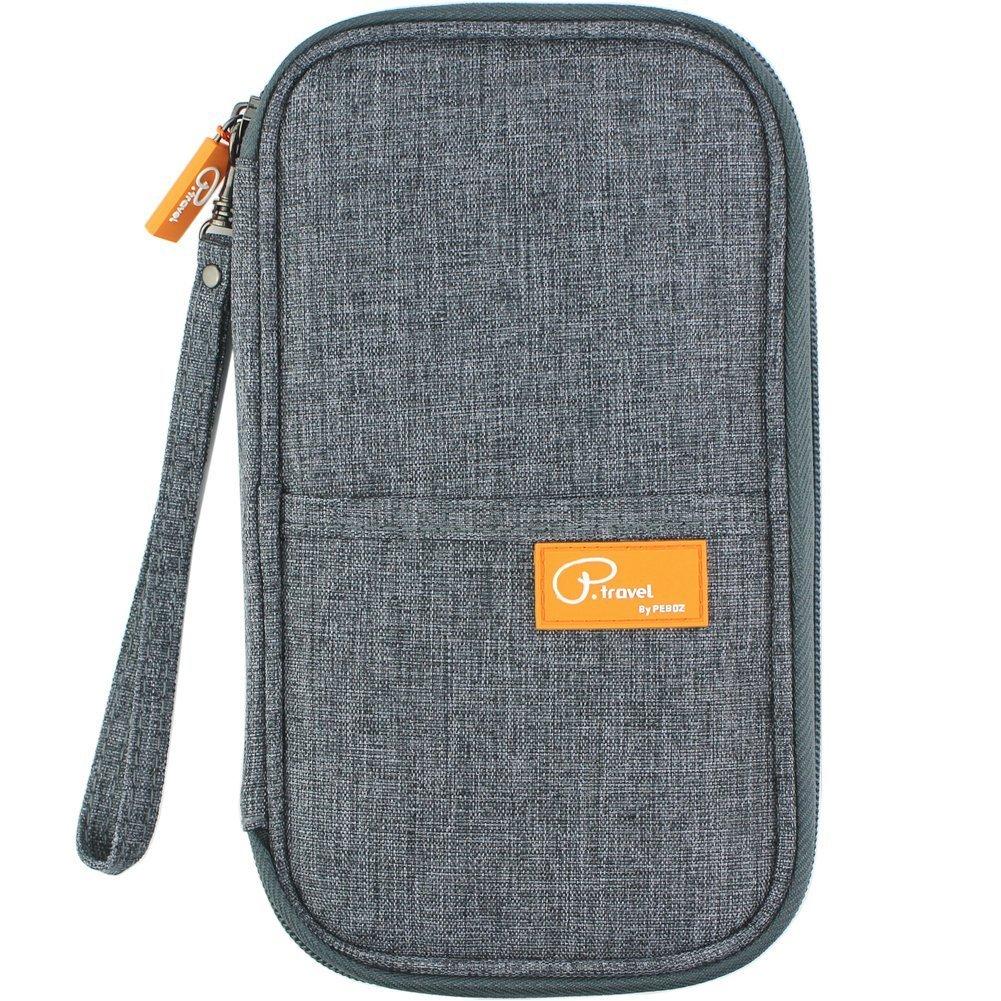 BUENAVO RFID Travel Passport Wallet & Documents Organizer, Waterproof Roomy Family Passports Holder Travel Accessories for Best Journey (Grey)