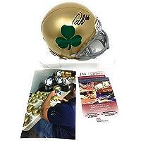 $89 » Quenton Nelson Notre Dame Fighting Irish Signed Autograph Rare Shamrock Mini Helmet JSA…