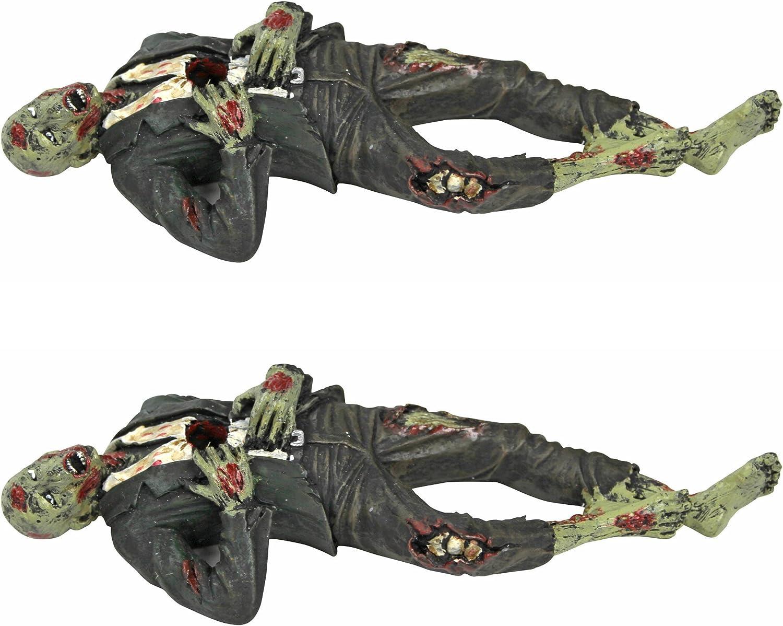 Death Desk Accessories - Impaled Zombie Figure Set of Two - Pencil Holder - Zombie Decorations