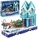 Frozen Toys Magical Ice Castle Building Kit Play Sets Friends Elsa and Anna Frozen Crystal Set for Kids (912 Pieces)