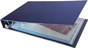 7 Ring Check Binder, 3-On-A-Page Business Checkbook Holder, 500 Checks Capacity, with 2019-2024 Calendar Organizer, Sleek Business Design [Dark Blue]
