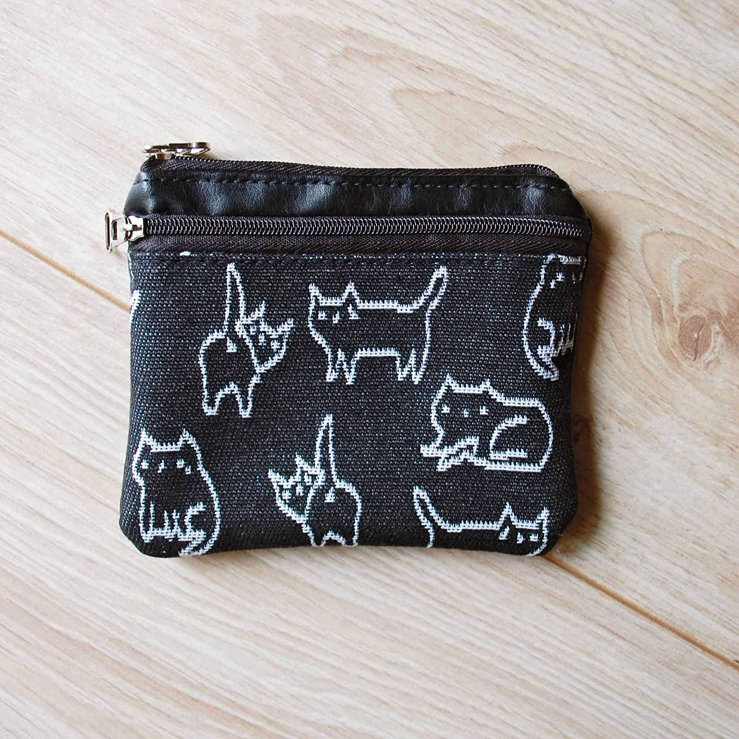 Kitten Lovers Coin Bag Change Credit Card Purse Cat Coin Pouch