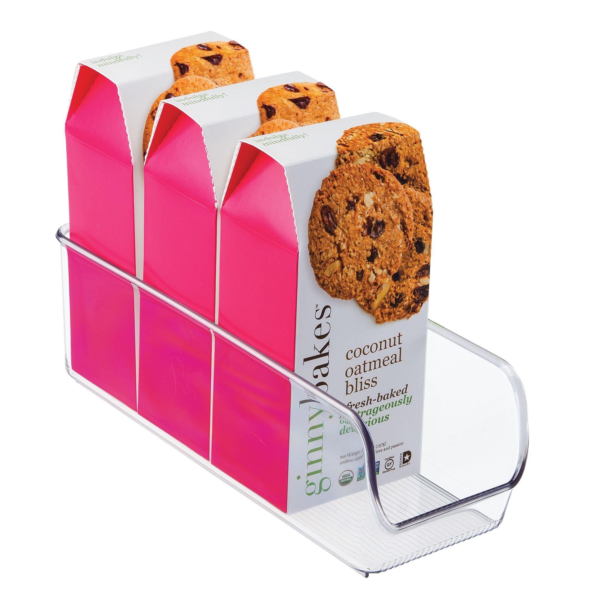 InterDesign Linus Organizador para la cocina, caja organizadora de plástico antirrotura de tamaño pequeño,