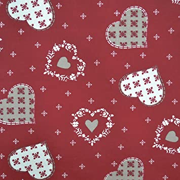 Curtains Ideas christmas curtain fabric : New - Authentic French Christmas Fabric (Alpine) | Hearts ...