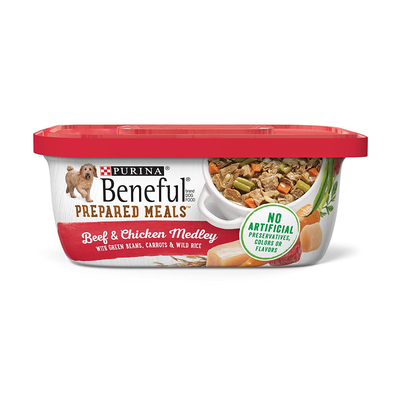 Purina Beneful Prepared Meals Simmered Beef Entre Wet Dog Food, (8) 10 oz. Tubs
