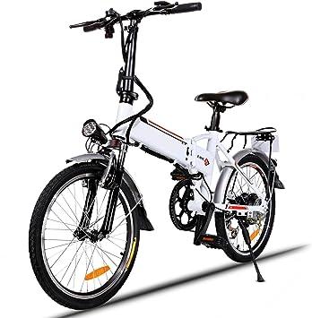 Bunao Bicicleta Eléctrica Plegable con Batería de Litio(36V 8Ah ...