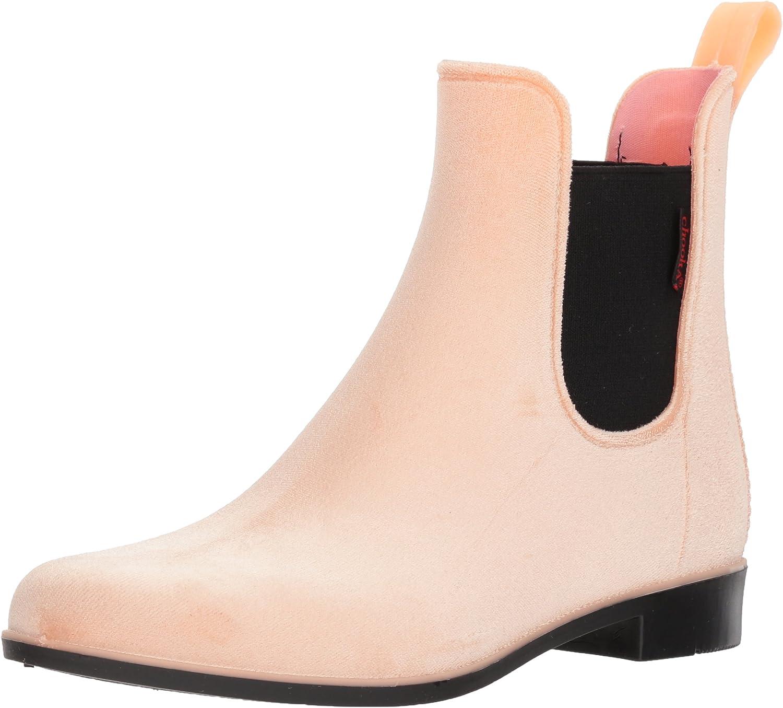 Chooka Women's Waterproof Fashion Velvet Bootie with Memory Foam Chelsea Boot